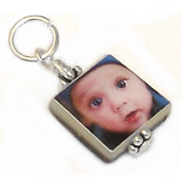 Black Lip Pearl Photo Charm