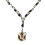 Swarovski Pearl Y Necklace
